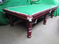 8ft x 4ft (Half Size) slate bed Snooker/Pool table in solid mahogany