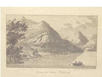 1 Orig.Kupferstich Wiederhold 1820 GERSAU,WALDSTÄDT