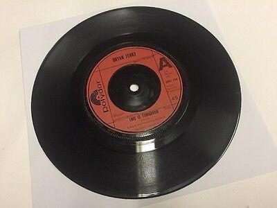 "Bryan Ferry - This Is Tomorrow - 7"" Vinyl Single, 1977 - Polydor - EX"