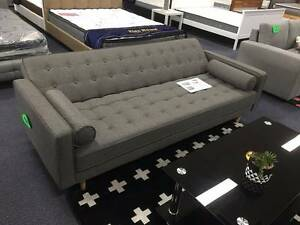 Brand New 3 Seater Grey Fabric Sofa Bed Couch Loung (SP068)