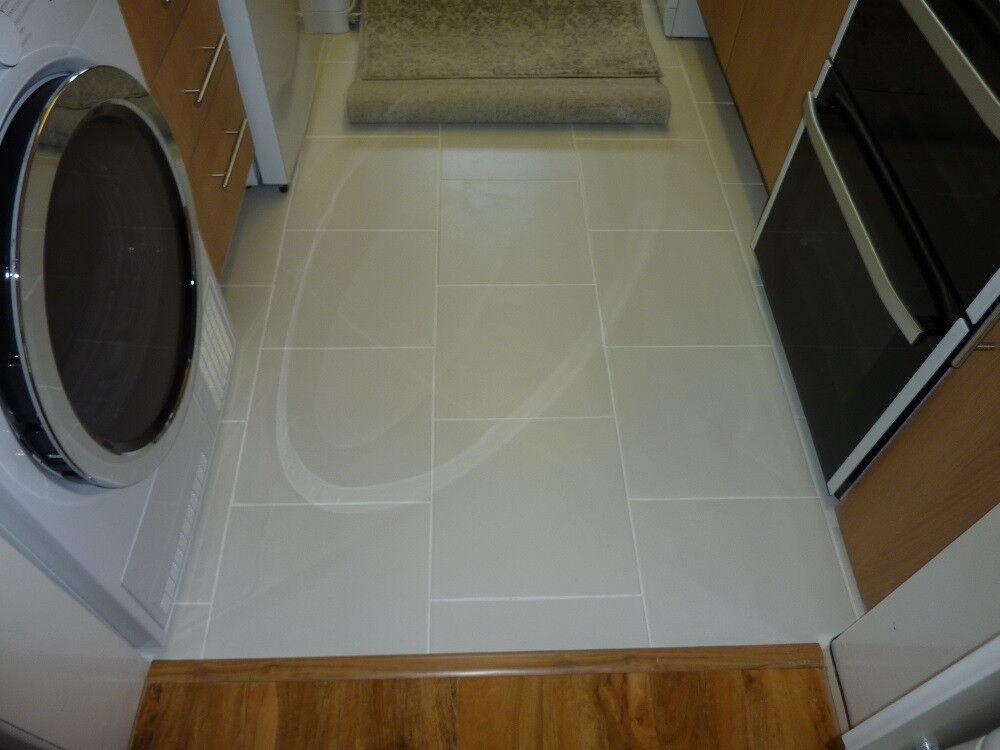4 Sq Metres Of New White Glazed Porcelain Floor Tiles In