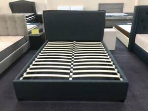 Brand New Furniture- Blue Fabric Bed Frame all sizes (EH-9042)