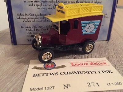 Oxford Diecast Bettws Community Link Newport South Wales Ford T Van 132T #