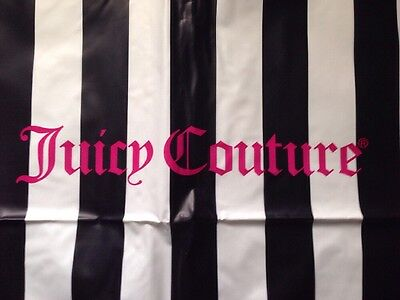Juicy Couture Striped Zippered Garment Bag Long Fold Over Plastic Travel