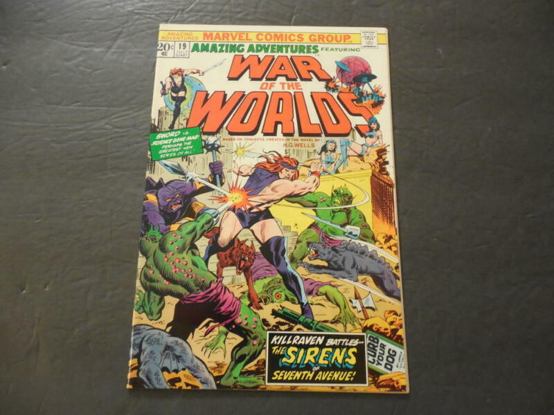 Amazing Adventures #19 Jul 1973 Killraven Bronze Age Marvel Comics      ID:22980