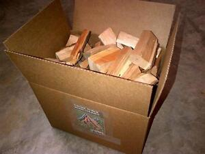 25LB BOX OF WOOD CHUNKS FOR YOUR SMOKER BBQ APPLE CHERRY ETC