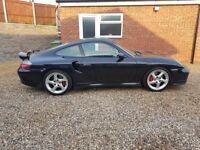 Stunning Black 2003 Porsche 996 911 Turbo, Rare Manual, P/X & Finance Welcome, FSH