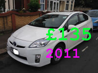 PCO Toyota Prius to rent Uber ready Cars on Cheap rents £135 Limited Time Offer 2011 Excellent