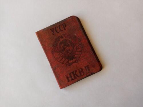 RARE SOVIET RUSSIAN ID DOCUMENT OF NKVD UKRAINIAN SSR. KGB, MGB.  REPLICA