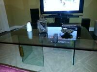 All Glass Coffee Table   REDUCED