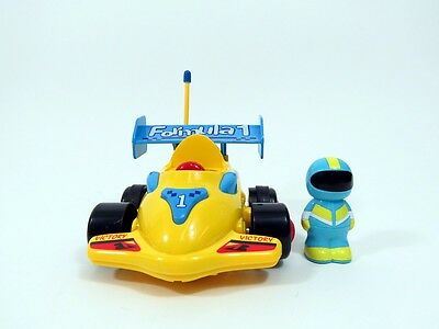 Cartoon Formula 1 RC Race Car Remote Control Xmas Toy for Toddlers Yellow MC03Y