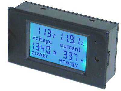 Panel Meter Lcd Snap-in Ac Volts 20amps 4.5kw 32409 Me