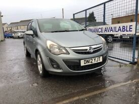 VAUXHALL CORSA SXI AC (silver) 2012 Car Sales / Finance NO DEPOSIT REQUIRED Cheap Cars Swaps availa.
