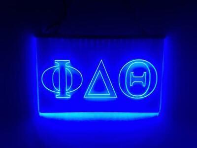 Phi Delta Theta LED Sign Greek Letter Fraternity Light
