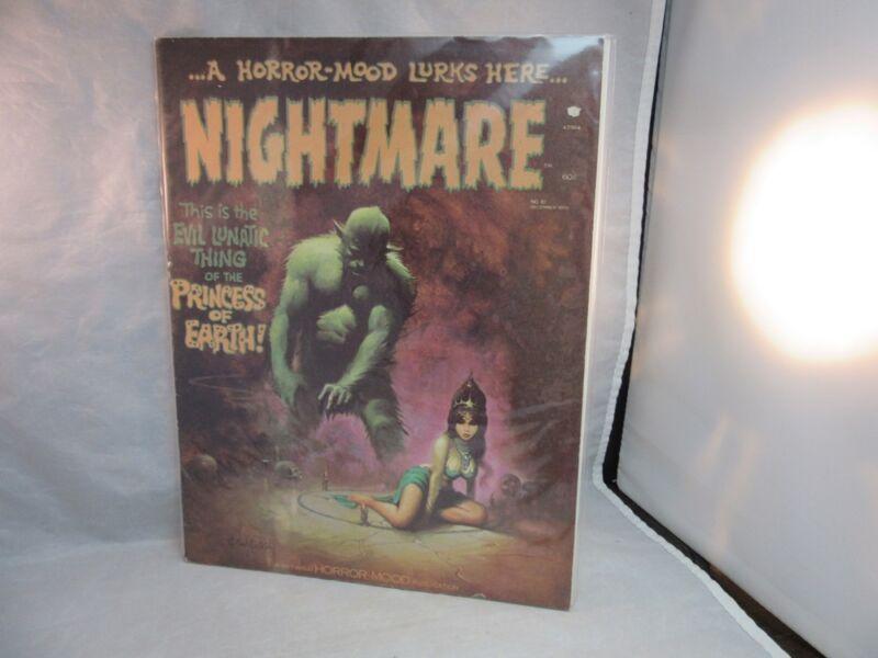 1972 Nightmare horror comic book. The Princes of Earth & the Evil Lunatic