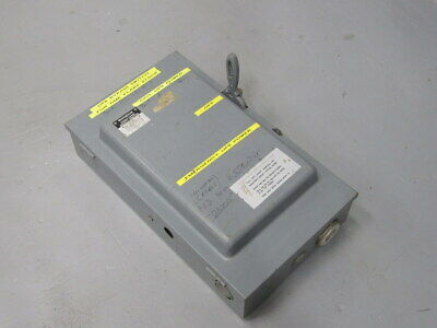 Westinghouse Xu-222 Double Throw Safety Switch 1605717