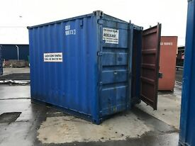 10' Used Shipping Container (Storage Container) Blue