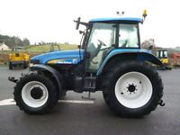 2004 New Holland TM155 Power C., Front links/PTO, Terraglide, Creepspeed, Air brakes