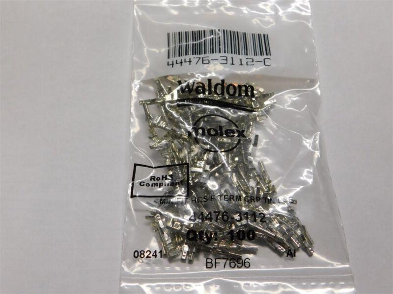 100 Molex 44476-3112-C Mini-Fit Plus HCS Female Crimp Terminals 16AWG