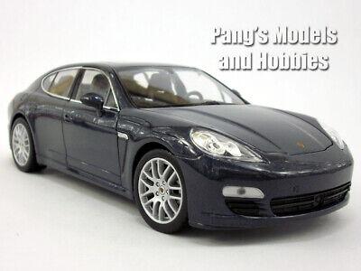 Porsche Panamera S 1/24 Scale Diecast Metal Model by Welly - DARK BLUE