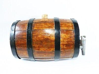 kleines altes Whisky Holzfass FASS aus Holz für Spirituosen Schnapsfass Weinfass
