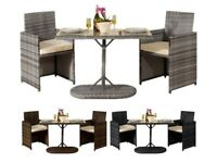**FREE & FAST UK DELIVERY** 3 Piece Bistro Rattan Furniture Set in Various Colours