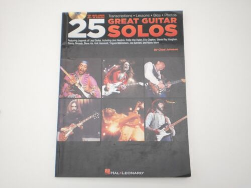 25 Great Guitar Solos Sheet Music Hal Leonard Song Book Transcriptions, Lessons