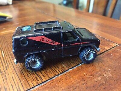 hot wheels real riders Baja Breakers Black  A-team Van  Diecast Car 1980s
