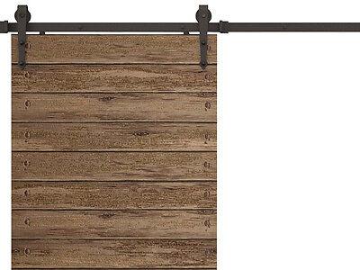 6 FT Antique Modern American Style Black Barn Wood Steel Sliding Door Hardware