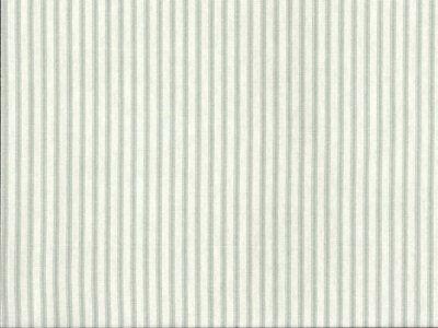 Bespoke Blooms Ticking Stripe Light Green 12yd