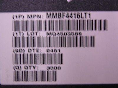 100 On Mmbf4416lt1 30v 10ma Jfet Vhfuhf Amplifier N-chan Transistors Sot-23-3