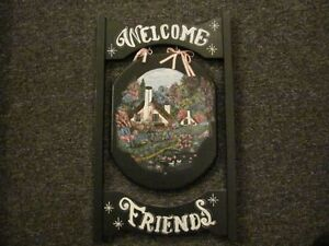 Two Sided Welcome Wall Hanger