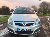 Vauxhall Zafira 2007 80,000 miles mint condition MOT till December 2018