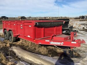 2016 Diamond C 24LPD-14' Dump Trailer