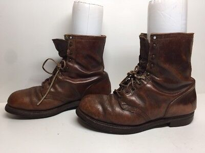 #V MENS IRON AGE STEEL TOE WORK LEATHER BROWN BOOTS SIZE 9 E