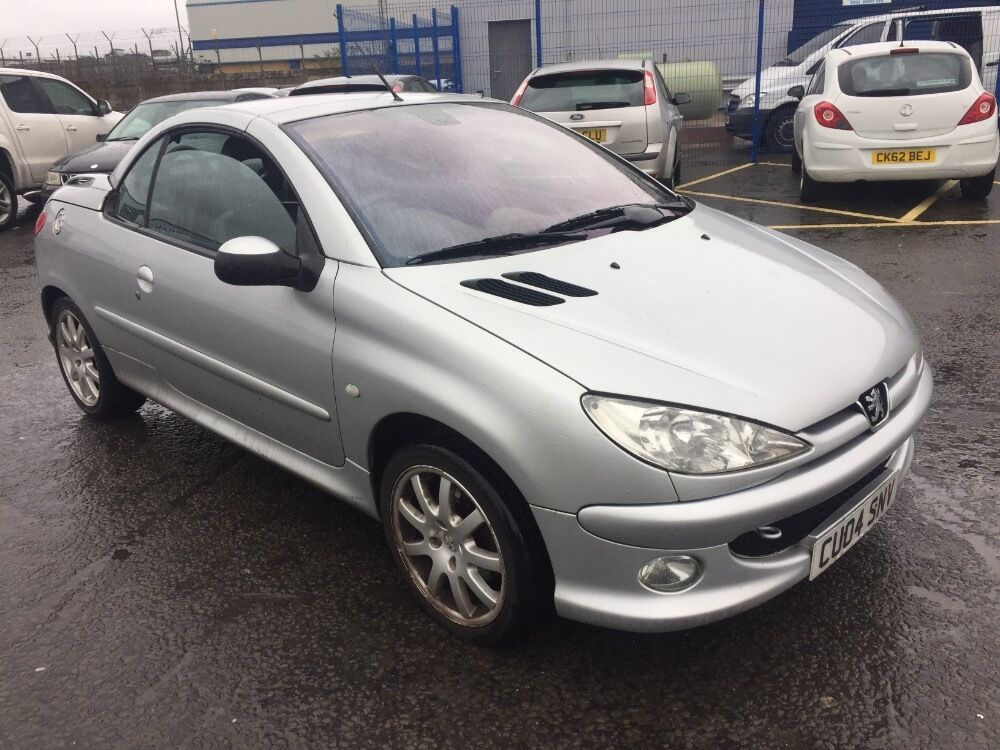 peugeot 206 coupe cabriolet se silver 2004 in cardiff gumtree. Black Bedroom Furniture Sets. Home Design Ideas