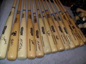 MLB Blue Jays SIGNED Baseball Bat with COA OR Jays Bobblehead