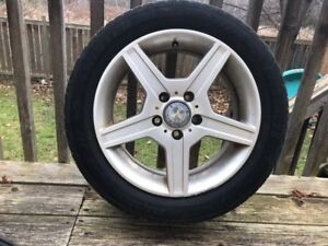 Set of 4 205/55R16 winter tires INCLUDES RIMS