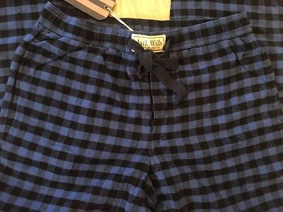 BNWT Jack Wills Dunford Flannel Loungepant. Blue / Black Check. Size XL