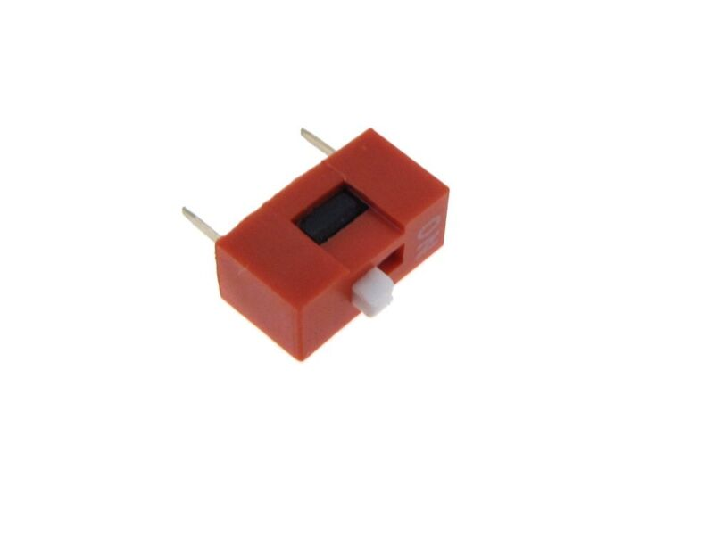 "1 Position DIP Switch 2.54mm 0.1"" Pitch - Pack of 10"