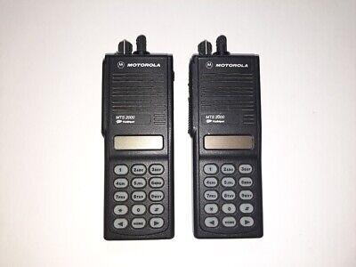 Lot Of 2 Motorola Mts2000 Radio Uhf 450-520mhz 160ch 4w Free Programming Gmrs