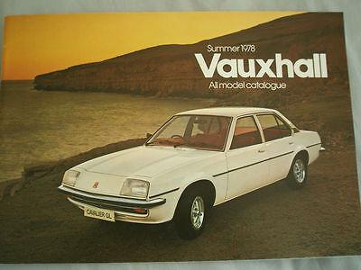 Vauxhall range brochure Summer 1978