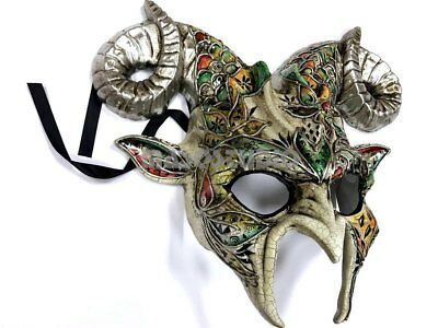 Halloween Masquerade Goat Mask Costume Animal Horns Cosplay Party Prom -VENETIAN - Goat Mask