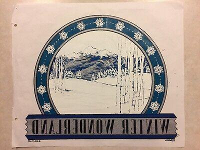 Vintage T-shirt Heat Transfer Winter Wonderland Mountain Scene