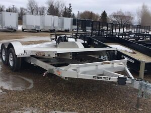 2015 Aluma Ltd. 8218 Tilt Flatdeck Car Hauler Trailer