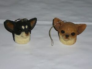 Chihuahua Sandicast ornaments, Snoozers, and Peepers, chihuahua