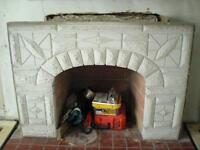 vintage fireplace mantle from the `40's excellent unpainted