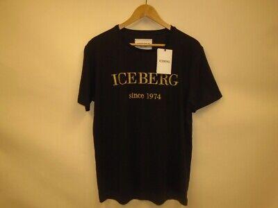 ICEBERG CLASSIC LOGO CREW NECK T-SHIRT BLACK XL *SHOP DAMAGE*