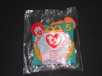 1996 McDONALDS Teenie Beanie Babies #5 GOLDIE NIP