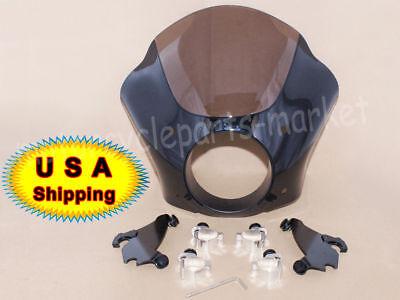 Memphis Shades Gauntlet Headlight Fairing W/Trigger Lock Mount Kit For Harley
